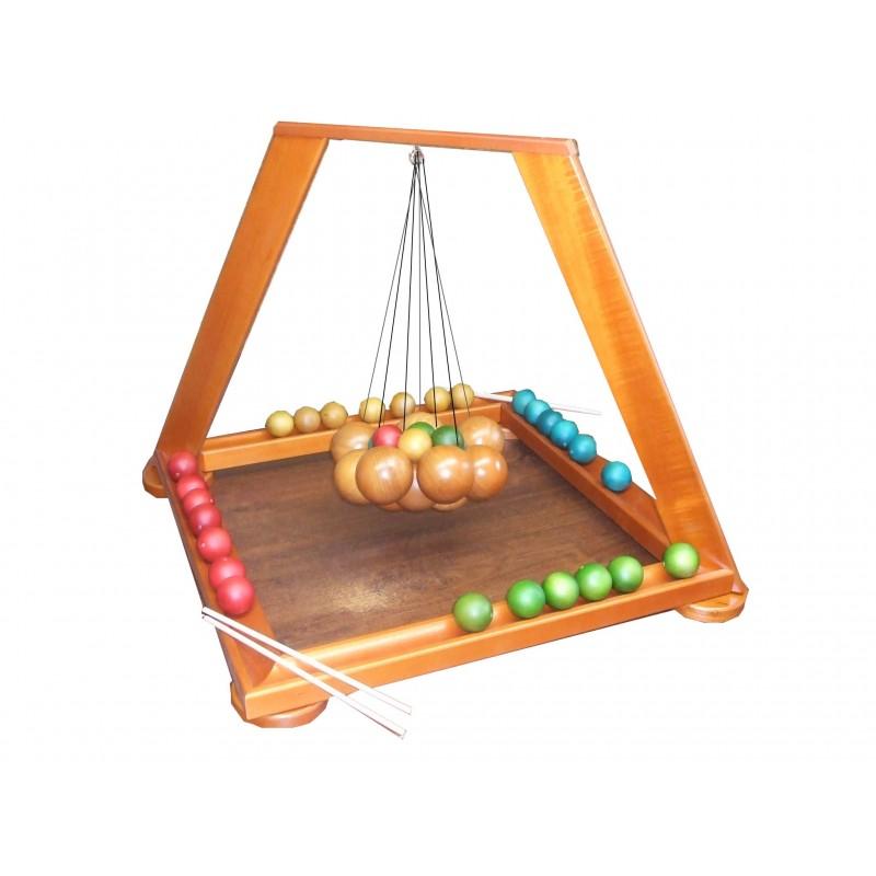 jeu de suspens g ant en bois avec grosses boules jeux d. Black Bedroom Furniture Sets. Home Design Ideas